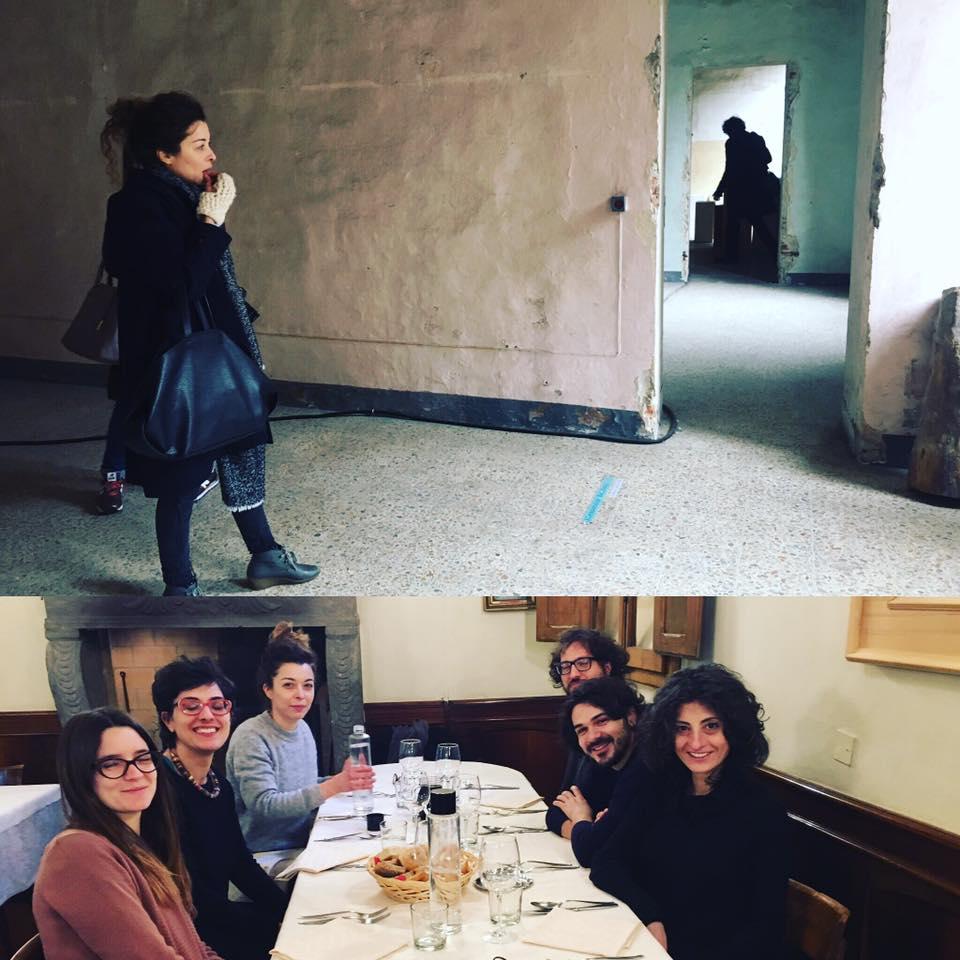 Sopralluogo con gli artisti per la riapertura di CasermArcheologica